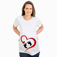 Футболка для беременных Ножки в сердечке