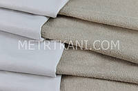 Непромокаемая ткань для наматрасника ,махровая ткань, бежевого цвета 180 г/м/2 № МНП-6