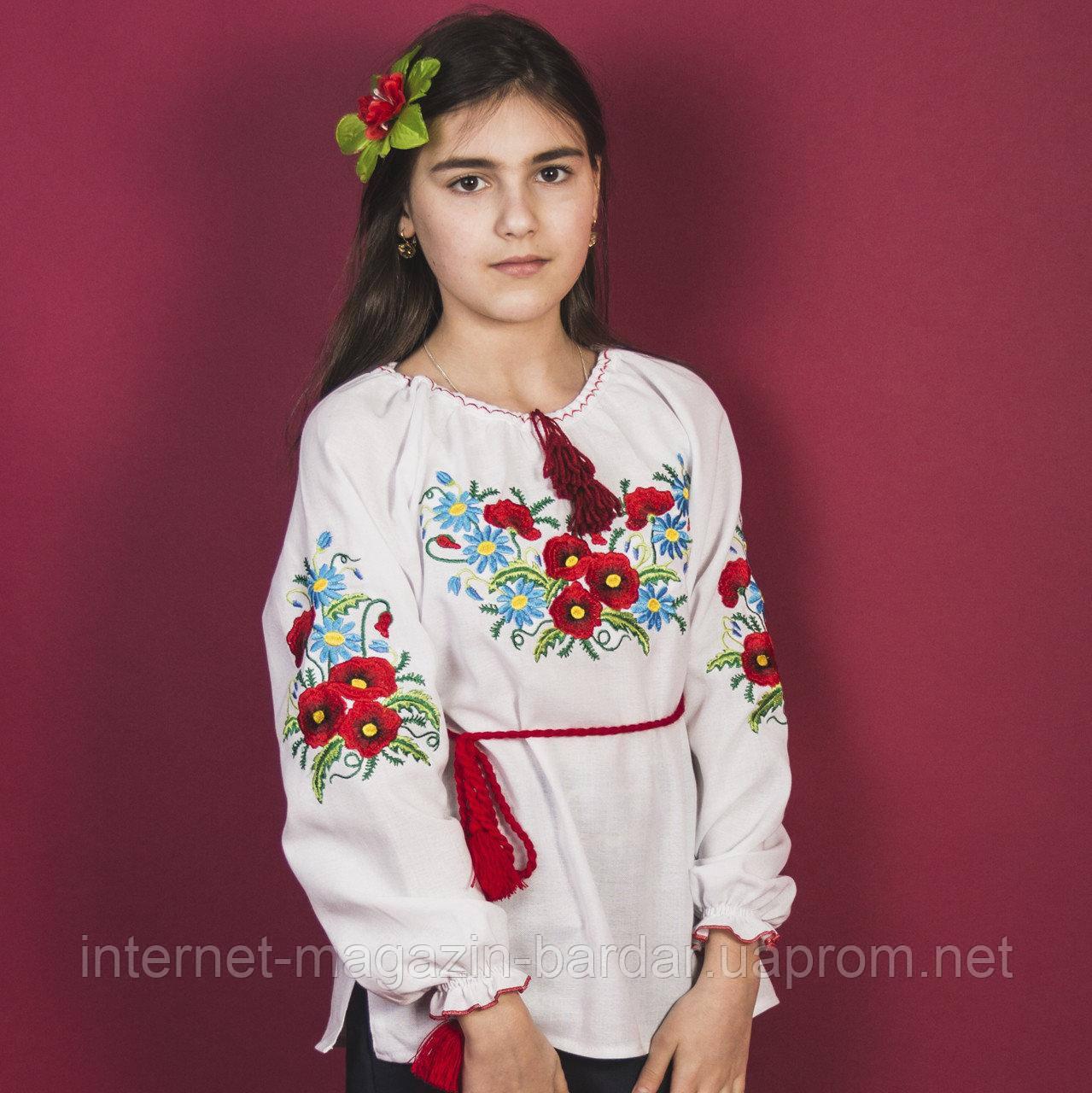 """Детская сорочка вышиванка для девочки """"Макро"""""""
