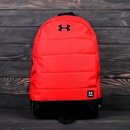Яркий, стильный рюкзак Under Armour. Отличное качество. Красный с черным, фото 2