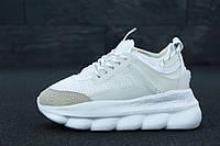 Женские мужские кроссовки Версаче Chain Reaction Sneakers Light