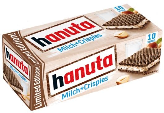Вафлі Hanuta Milch + Crispies 220 г