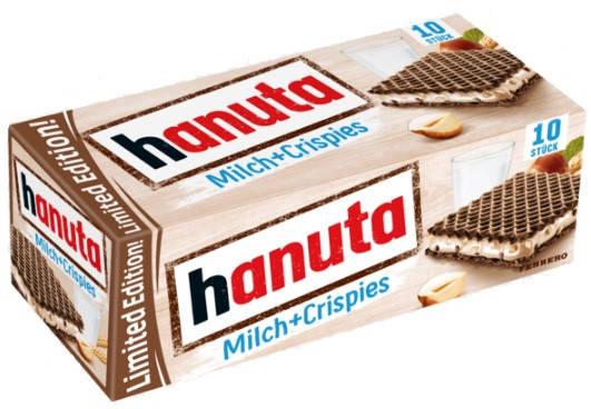 Вафлі Hanuta Milch + Crispies 220 г, фото 2