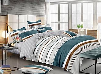 Евро комплект постельного белья «Морской мотив» 200х220 см из сатина 50х70 навол