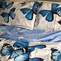Комплект  Голубые бабочки, бязь (хлопок)