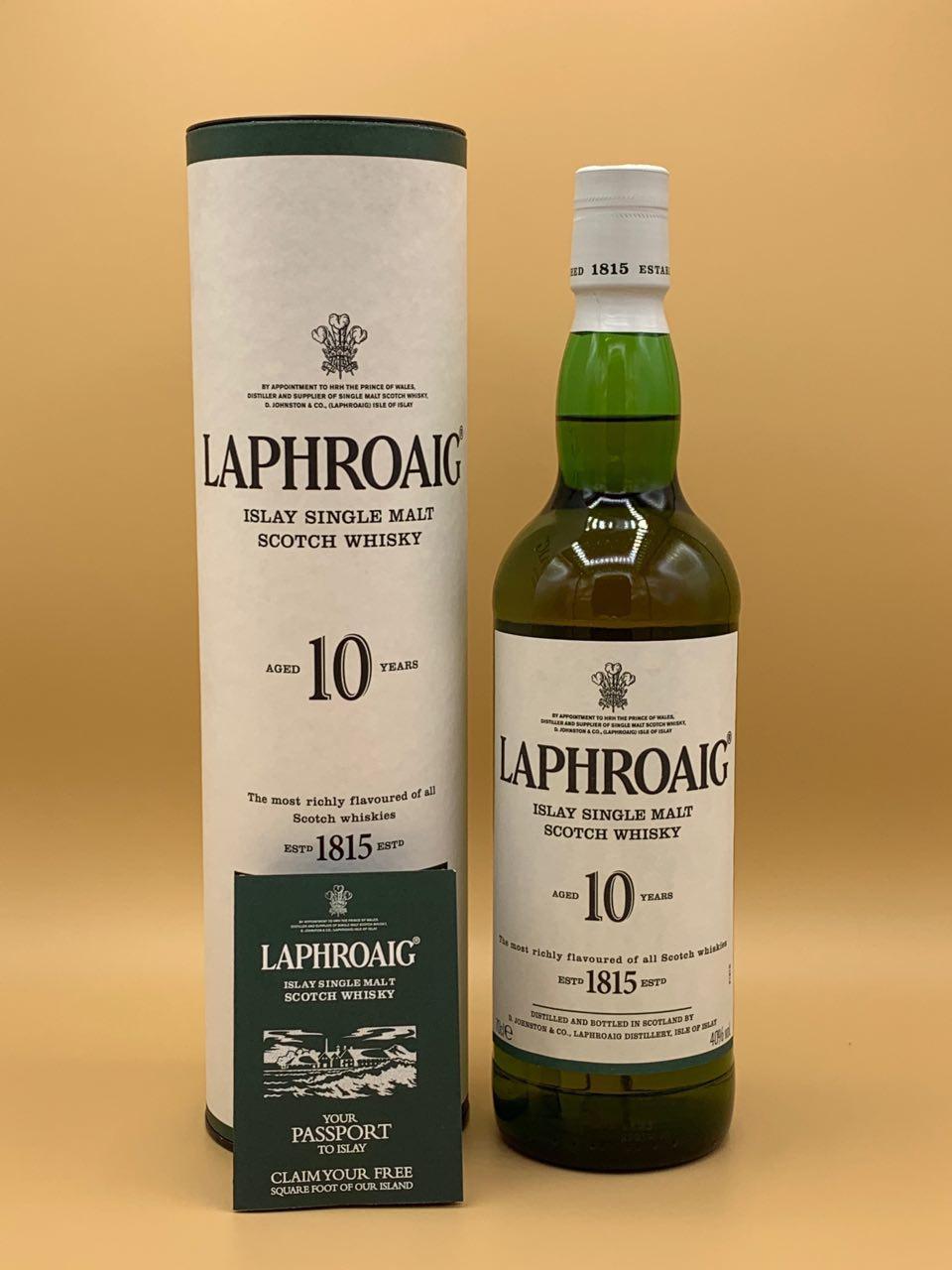 Виски Laphroaig 10 y.o. 0.7L Лафройг 10 лет 0,7л