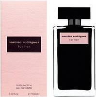 Женская туалетная вода Narciso Rodriguez For Her - Чёрная бутылка, розовая упаковка (100 мл)