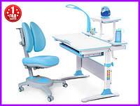 Комплект Evo-kids Evo-30 BL дерево стол+полка+лампа+кресло Onyx Duo Y-115 KBL, фото 1