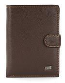 Мужской прочный кошелек из эко кожи PILUSI art.302B-41 коричневый