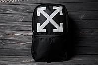 Рюкзак черного цвета с большим внешним карманом на молнии ОФФ крестик