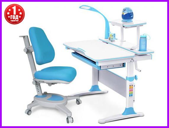 Комплект Evo-kids  Evo-30 BL дерево стол+полка+лампа+кресло Onyx Y-110 KBL