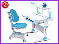 Комплект Evo-kids  Evo-30 BL дерево стол+полка+лампа+кресло Onyx Y-110 KBL, фото 1