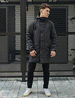 Чоловіча молодіжна парка/ Мужская молодежная темно-серая куртка, парка стафф Staff me grafit BZP0050