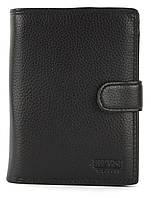 Мужской прочный кошелек из эко кожи PILUSI art.302B-40 черный, фото 1