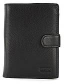 Мужской прочный кошелек из эко кожи PILUSI art.302B-40 черный
