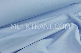 Однотонная польская бязь голубого цвета 125г/м2  №100