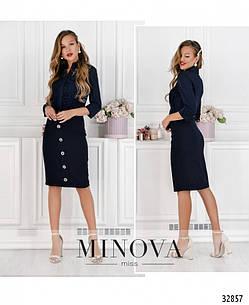 Элегантная молодёжная юбка-миди  в деловом стиле   42-48, фото 2