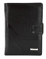 Мужской прочный кошелек из эко кожи PILUSI art.302B-36 черный, фото 1