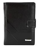 Чоловічий міцний гаманець з еко шкіри PILUSI art.302B-36 чорний