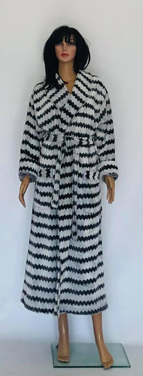 Махровый халат длинный  на запах