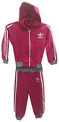 Спортивный костюм на девочку с капюшоном на змейке манжеты adidas 1-3 года (деми)