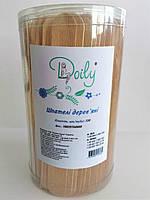 Шпатели деревянные одноразовые Doily (150 шт в тубусе) (4823098707660)