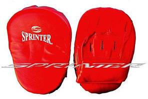 """Лапа боксёрская """"Sprinter"""". Гнутая, кож/зам. Пакистан"""