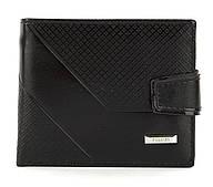 Чоловічий міцний гаманець з еко шкіри PILUSI art.208-36 чорний
