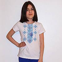 """Вишита футболка для дівчинки """"Орнамент"""""""