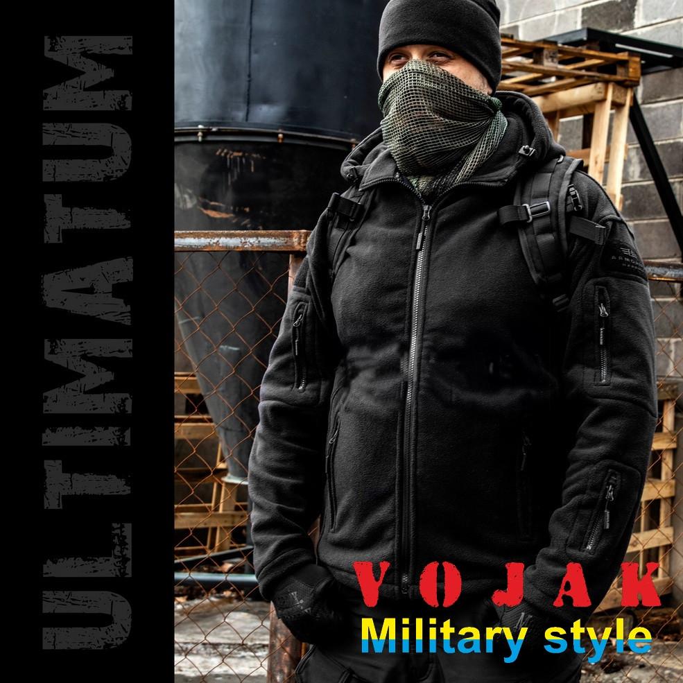 """Толстовка тактическая с капюшоном """"ULTIMATUM"""" BLACK (S-XXXL)"""