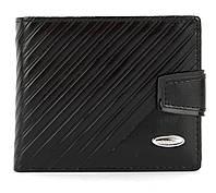Мужской прочный кошелек из эко кожи PILUSI art.208-37 черный, фото 1