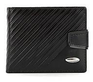 Чоловічий міцний гаманець з еко шкіри PILUSI art.208-37 чорний