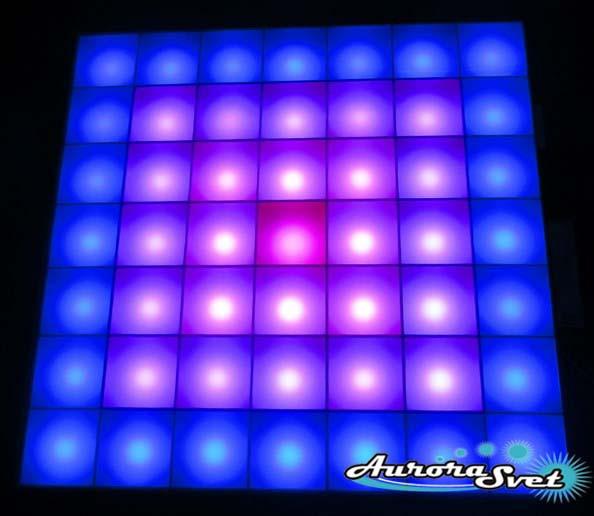 Светодиодная пиксельная панель настенная W-142-7*7-4