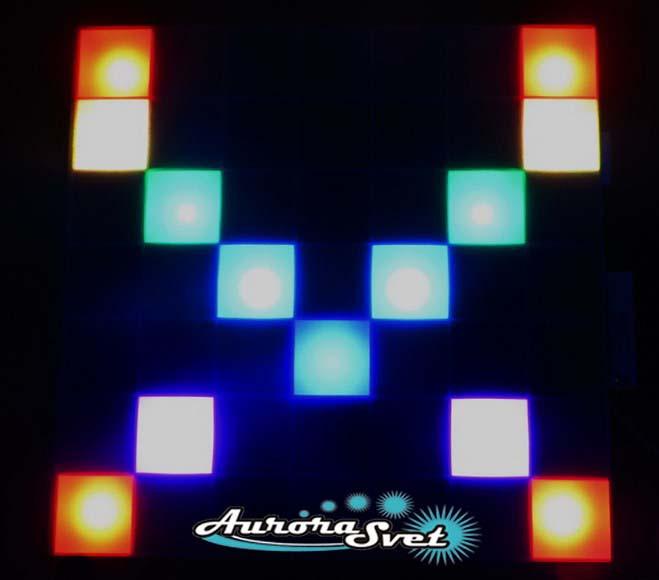 Светодиодная пиксельная панель настенная W-142-7*7-6