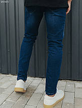 Чоловічі молодіжні сині джинси/ Мужские синие молодежные джинсы стафф Staff became c5 SNT0072, фото 2