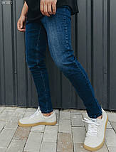 Чоловічі молодіжні сині джинси/ Мужские синие молодежные джинсы стафф Staff became c5 SNT0072, фото 3