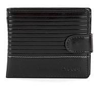 Чоловічий міцний гаманець з еко шкіри PILUSI art.208-10 чорний