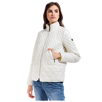 Женская осенняя куртка Finn Flare A17-32005 стеганная белая