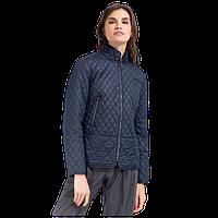 Женская осенняя куртка Finn Flare A17-32005 стеганная тёмно-синяя