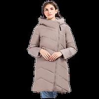 Женская зимняя куртка Finn Flare W 17-11030 теплая серо-розовая