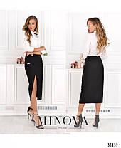 Элегантная молодёжная юбка-карандаш в деловом стиле 42-48, фото 2