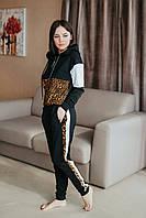 Женский удобный спортивный костюм, двунить, домашняя одежда