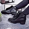 Ботинки женские Nicole демисезонные черные эко-кожа )), фото 6