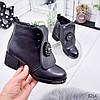 Ботинки женские Nicole демисезонные черные эко-кожа )), фото 7
