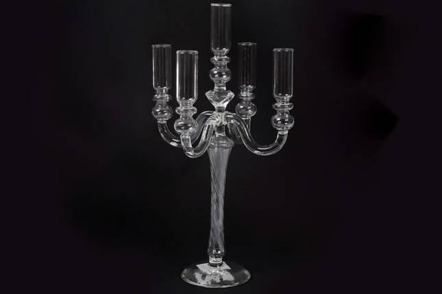 Подсвечник на 5 свечей, прозрачное стекло (881-124), фото 2