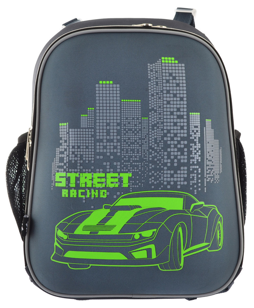 Школьный каркасный ранец с гоночным авто для мальчика  38*29*15