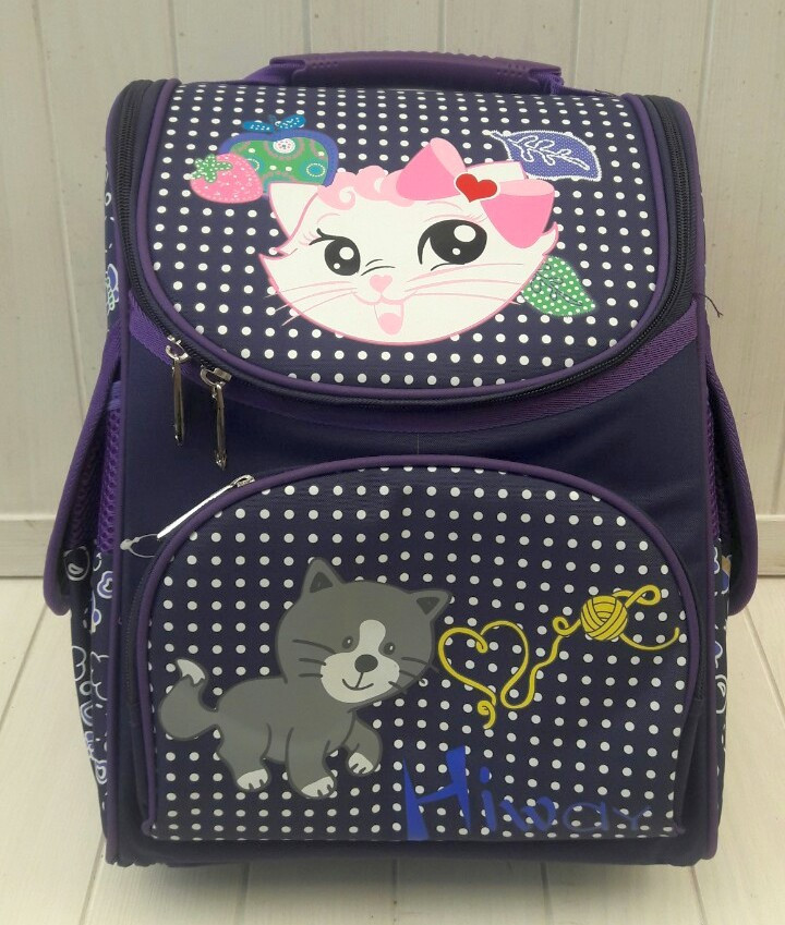 Фиолетовый каркасный рюкзак для девочки 34*25*15 см