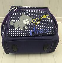 Фиолетовый каркасный рюкзак для девочки 34*25*15 см, фото 2