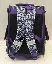 Фиолетовый каркасный рюкзак для девочки 34*25*15 см, фото 3