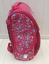 Ортопедический каркасный ранец с принтом для девочки 34*25*15 см, фото 2